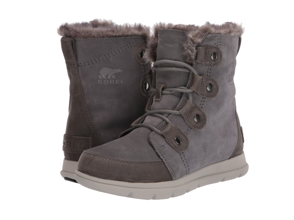 SOREL Explorer Joan (Quarry/Black) Women's Lace-up Boots