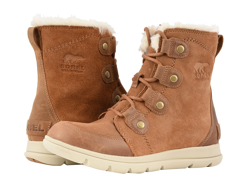 SOREL Explorer Joan (Camel Brown/Ancient Fossil) Women's Lace-up Boots