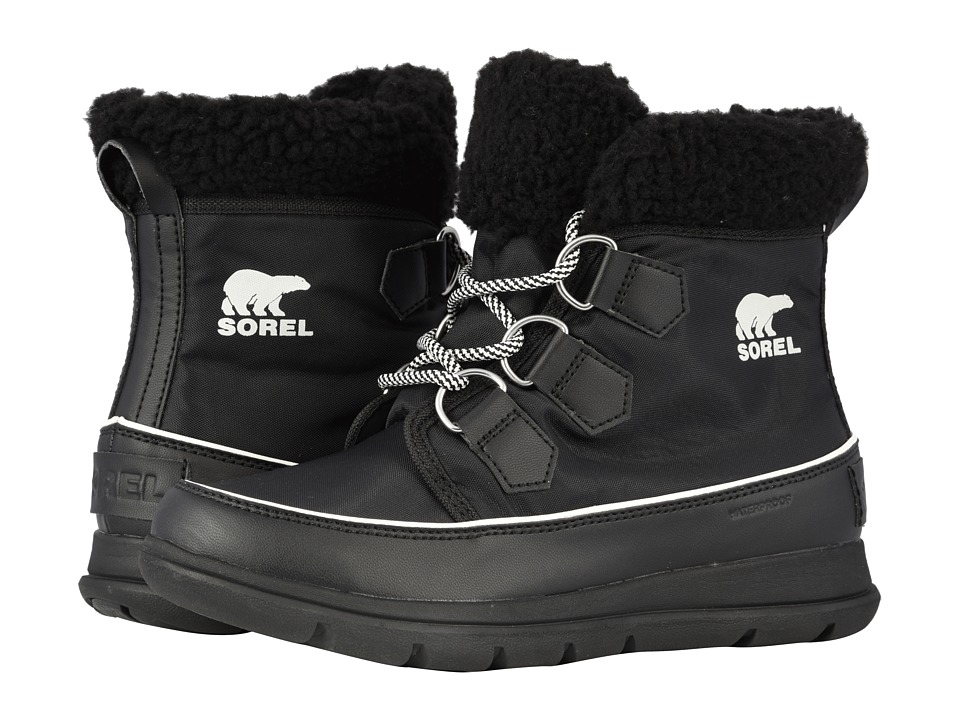 SOREL Explorer Carnival (Black/Sea Salt) Women's Cold Weather Boots