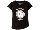 The Original Retro Brand Kids Donut Kill My Vibe Rolled Short Sleeve Slub T-Shirt (Big Kids)