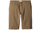 Hudson Kids Raw Hem Sateen Chino Shorts in Dark Chino (Big Kids)