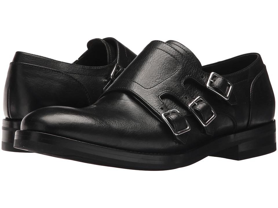 Alexander McQueen Monk Strap Boot (Black) Men