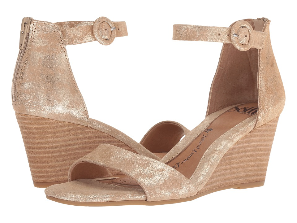 Sofft Marla (Platino Distressed Foil Suede) Women's Shoes