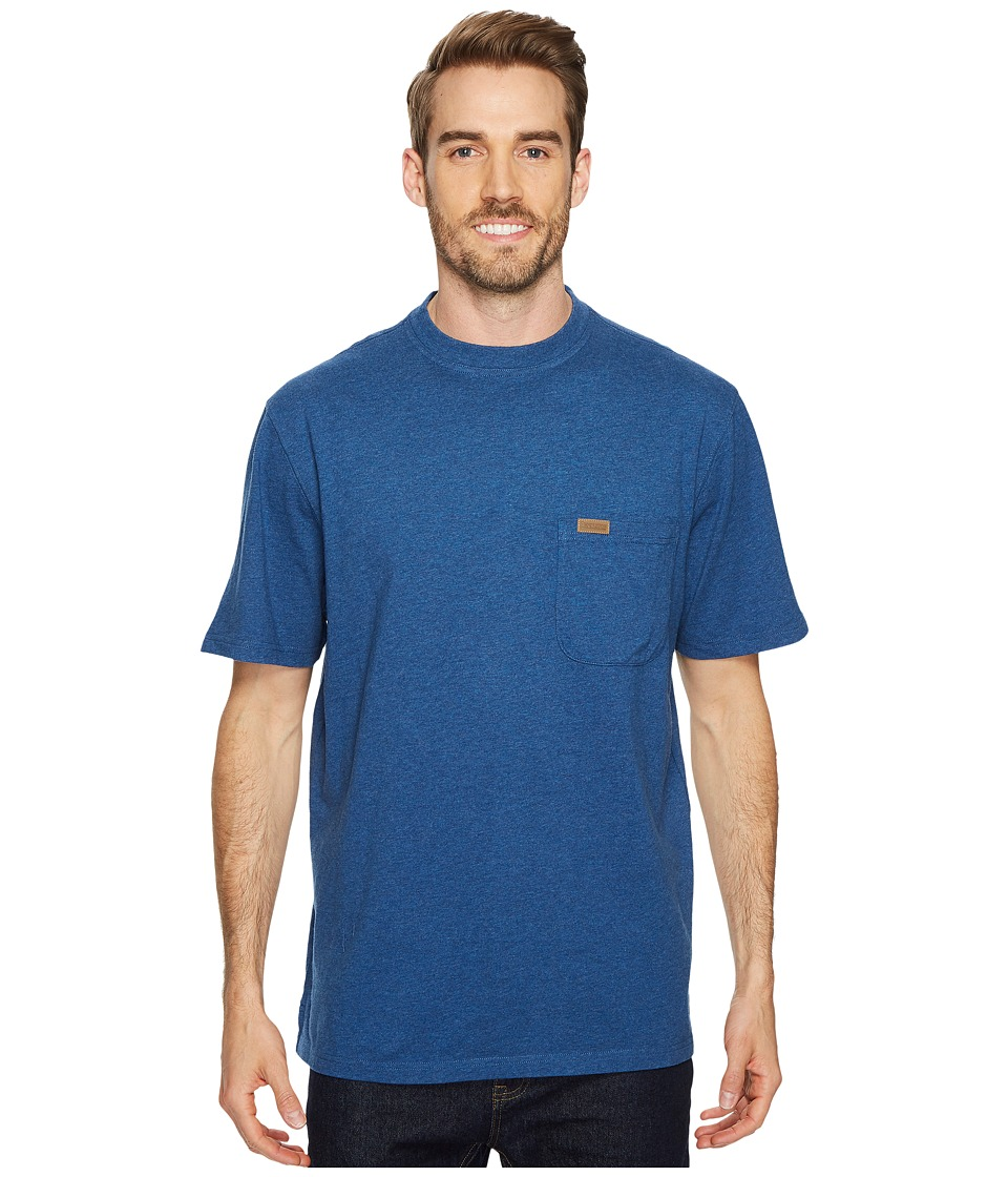 Pendleton - S/S Deschutes Pocket Shirt (True Heather Blue) Mens T Shirt