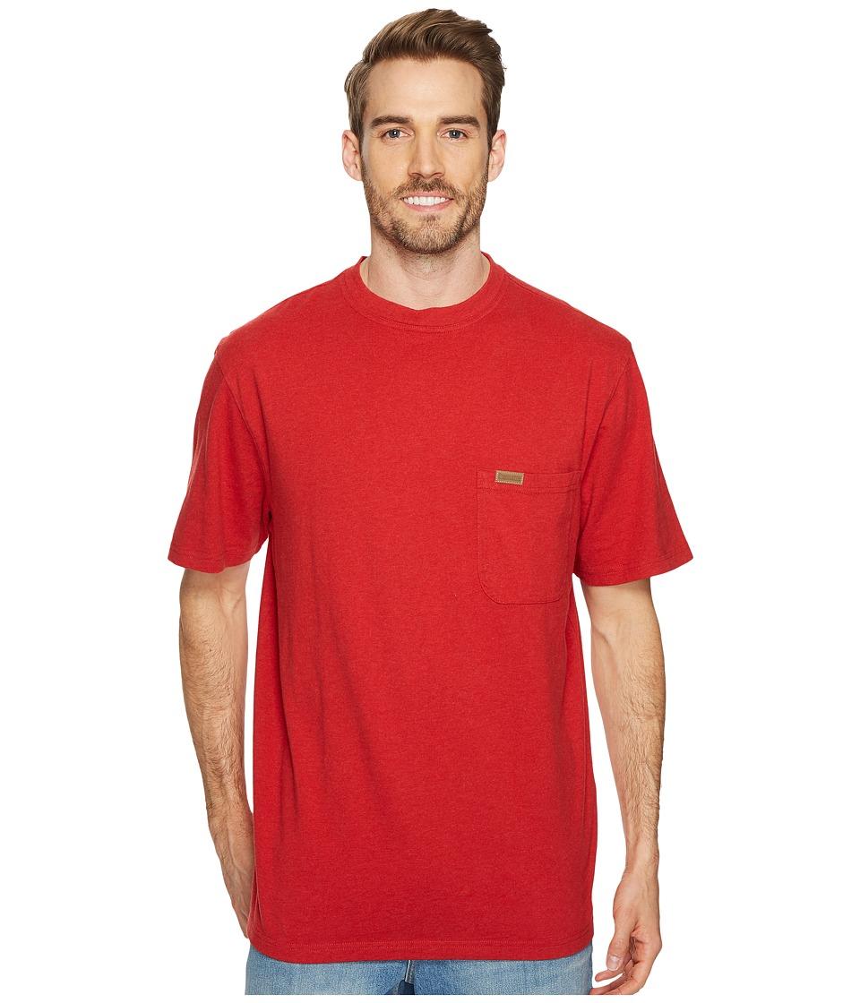 Pendleton S/S Deschutes Pocket Shirt (Red Currant Heather) Men