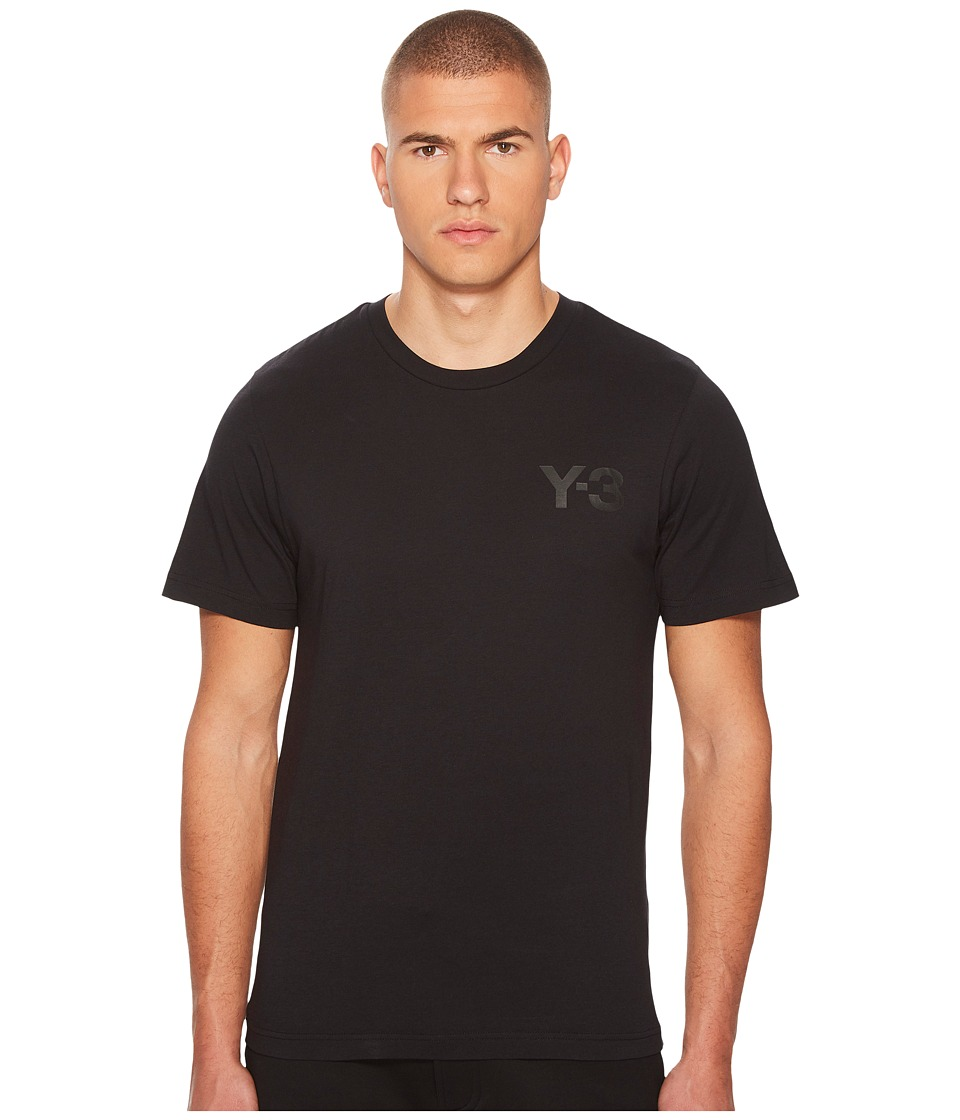 adidas Y-3 by Yohji Yamamoto - Classic S/S Tee (Black 1) Mens Short Sleeve Pullover