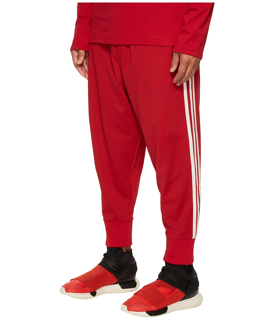 Image of adidas Y-3 by Yohji Yamamoto - 3-Stripes Track Pants (Chili Pepper/Undyed) Men's Casual Pants