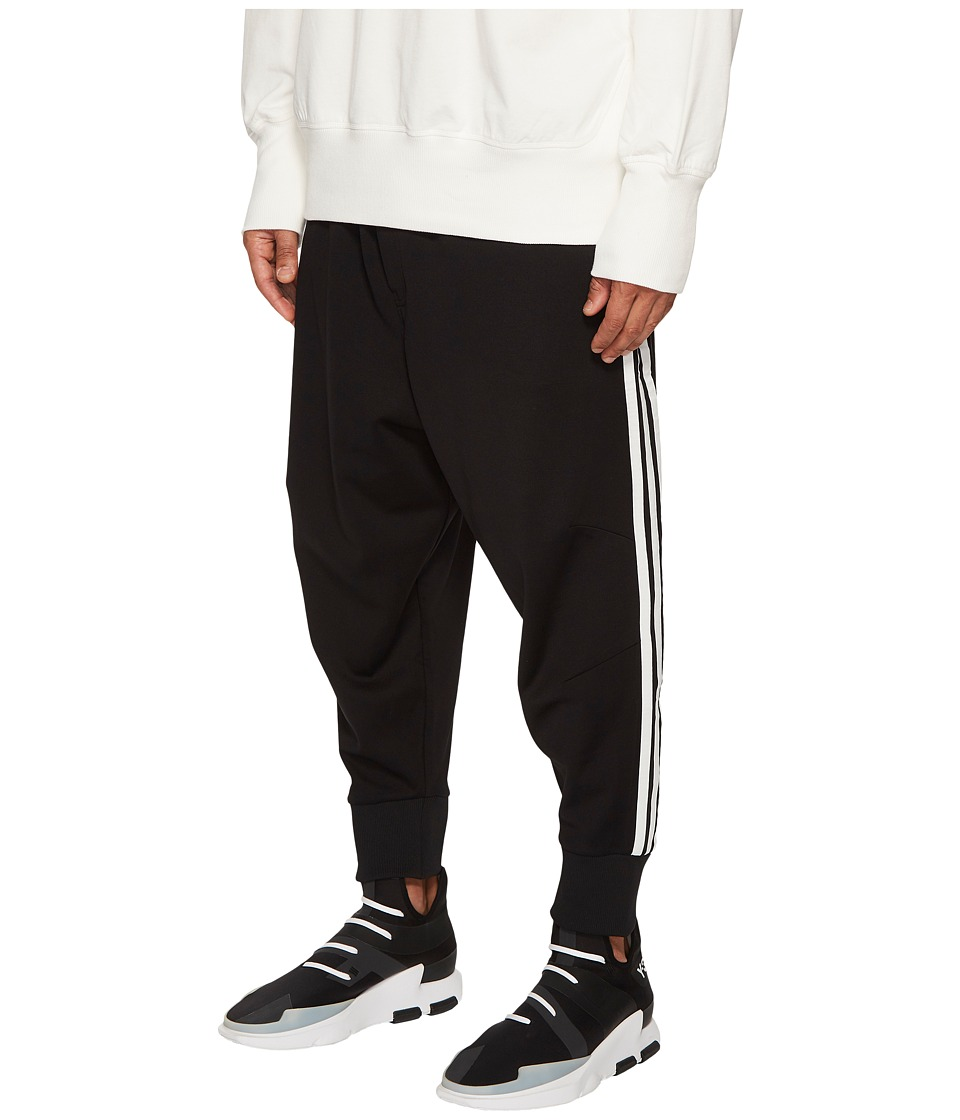 Image of adidas Y-3 by Yohji Yamamoto - 3-Stripes Track Pants (Black/Core White) Men's Casual Pants