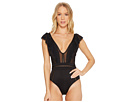 JETS by Jessika Allen Fanciful Ruffled Plunge One-Piece