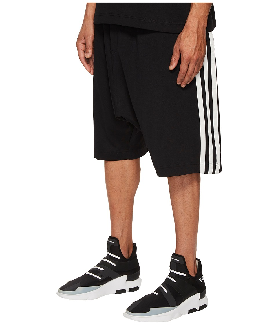 Image of adidas Y-3 by Yohji Yamamoto - 3-Stripes Shorts (Black/Core White) Men's Shorts