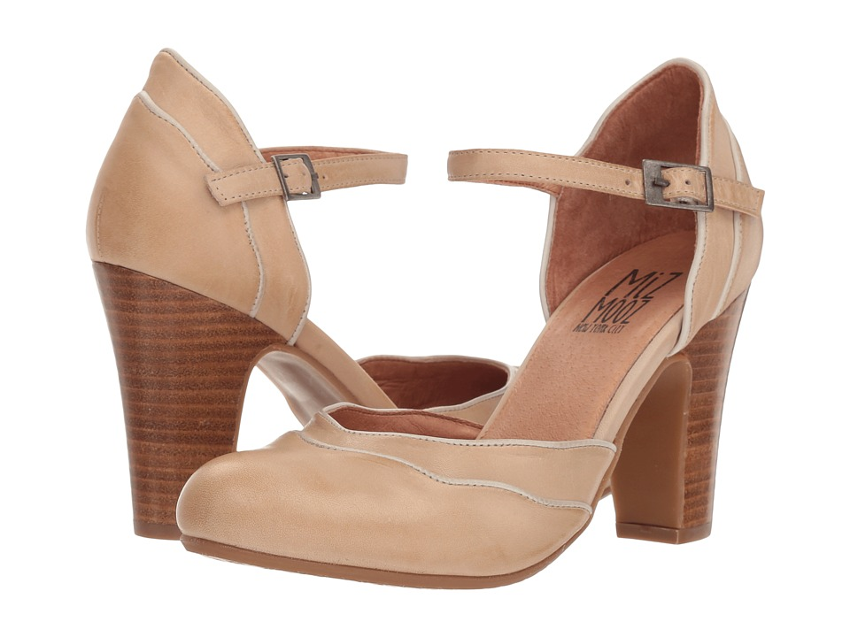 Vintage Style Shoes, Vintage Inspired Shoes Miz Mooz Jagger Cream High Heels $139.95 AT vintagedancer.com