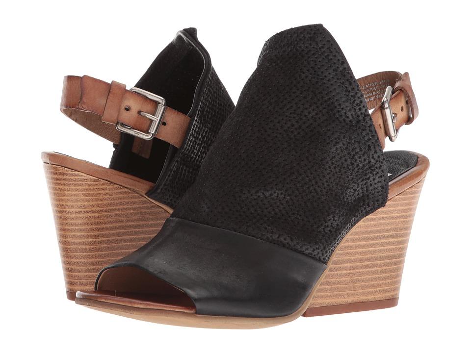 Miz Mooz Kona (Black) Women's Toe Open Shoes