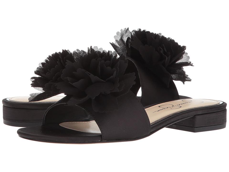 Jessica Simpson - Caralin (Black Crystal Satin) Womens Shoes
