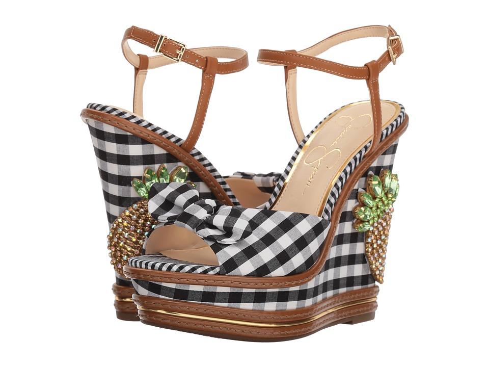 Jessica Simpson - Azeena (Black/White Picnic Gingham) Womens Shoes