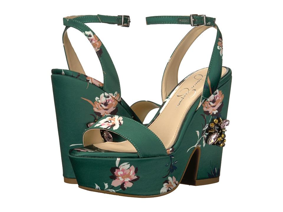 Jessica Simpson - Carena (Emerald Multi Rylie Floral Satin) Womens Shoes