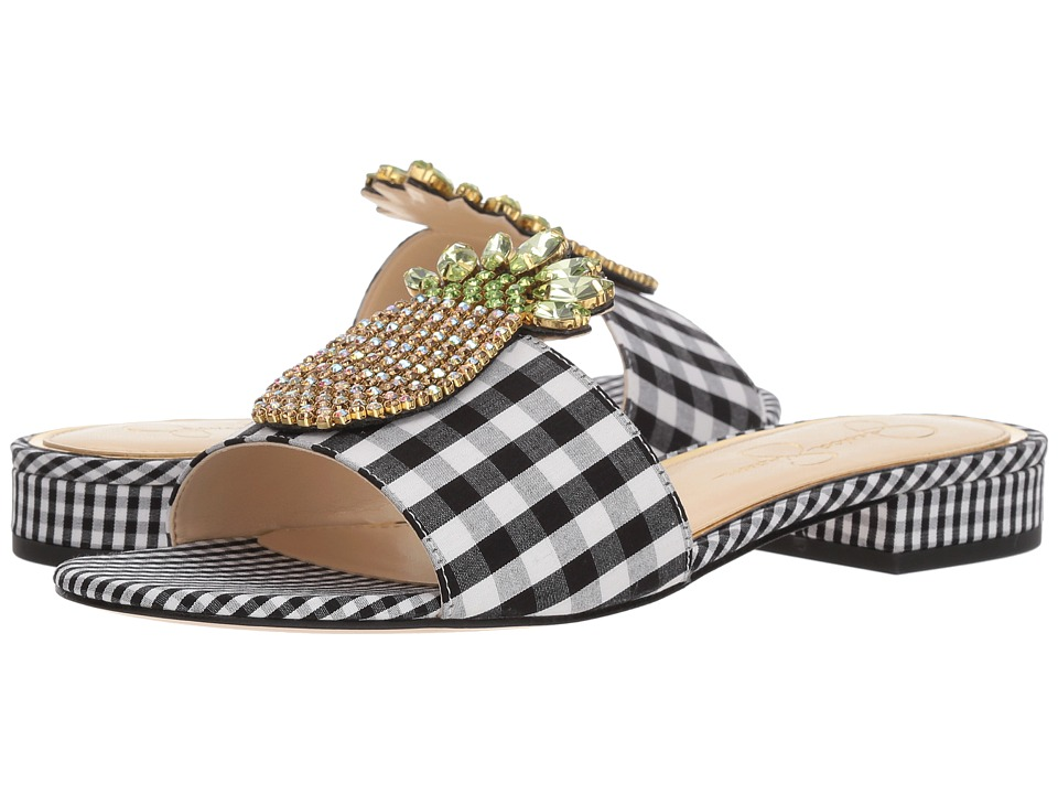 Jessica Simpson - Crizma (Black/White Picnic Gingham) Womens Shoes