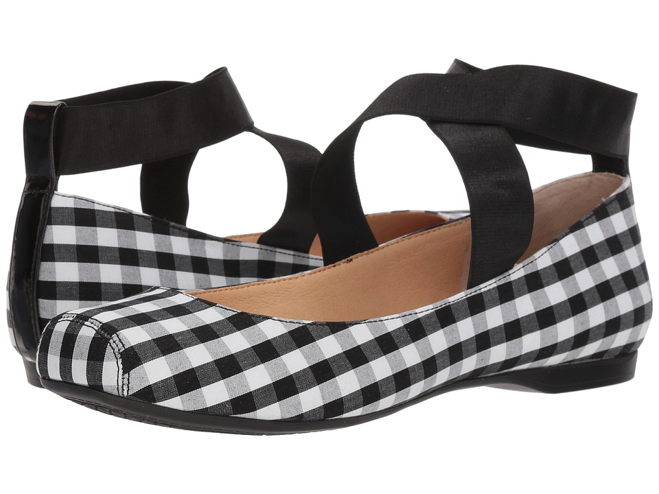 Jessica Simpson - Mandalaye (Black/White Picnic Gingham) Womens Shoes