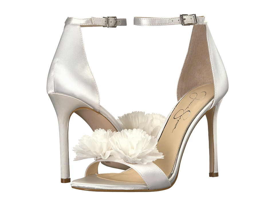 Jessica Simpson Jeena (White Gloss Satin) Women