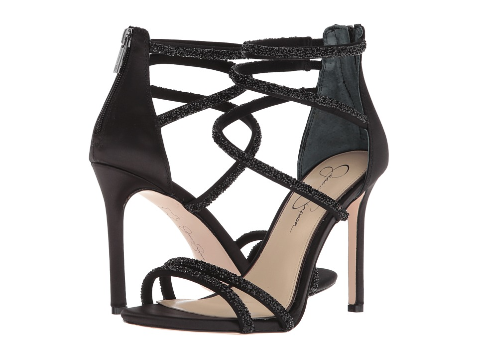 Jessica Simpson Jamalee (Black Crystal Satin) Women