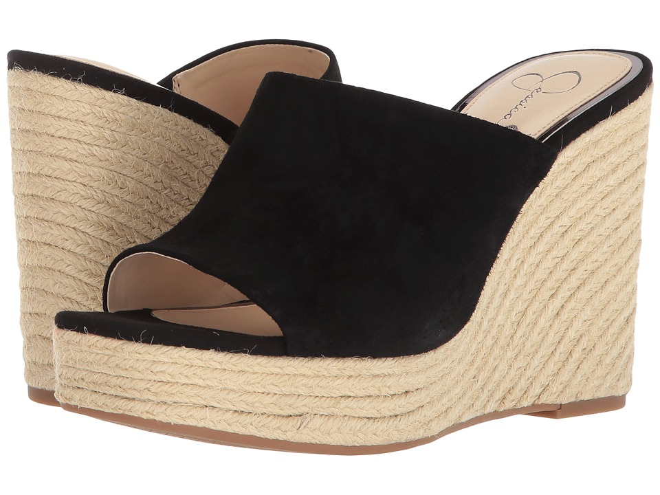 Jessica Simpson - Sirella (Black Luxe Kid Suede) Womens Shoes