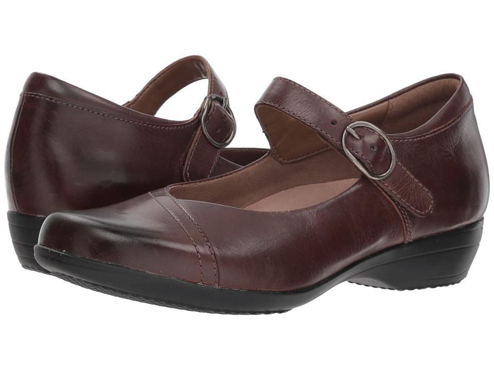 Dansko Fawna (Chocolate Burnished Calf) Women's Shoes