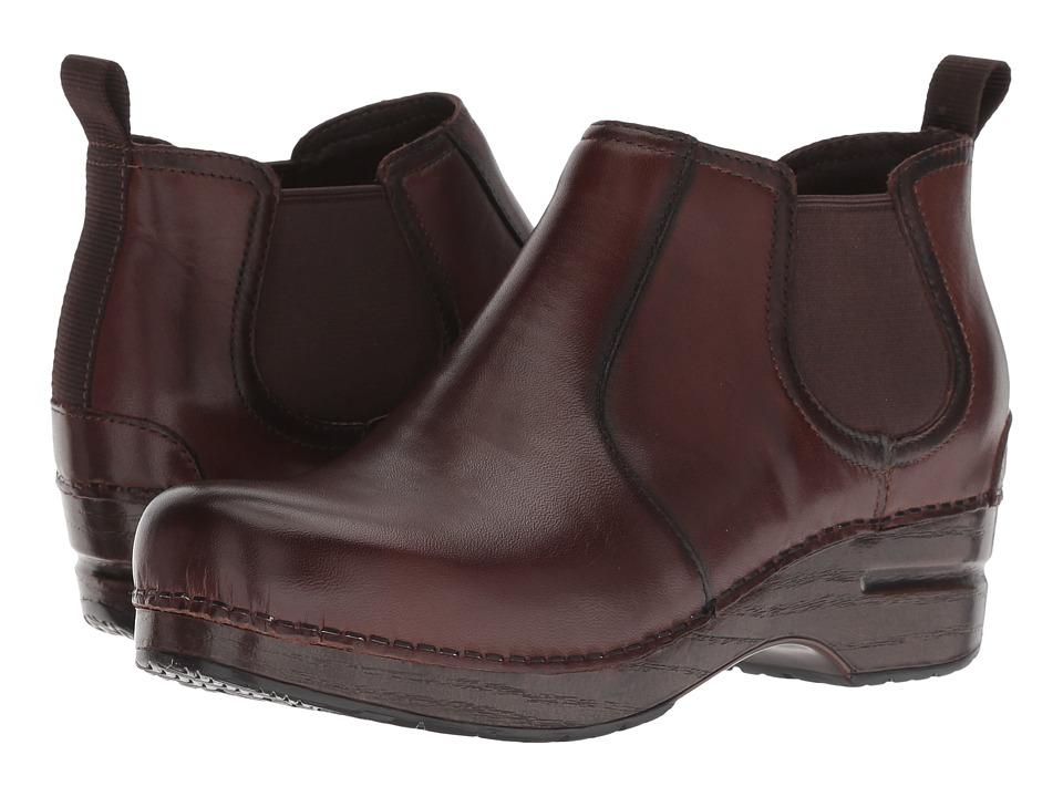 Dansko Frankie (Brown Burnished Full Grain) Women's Shoes