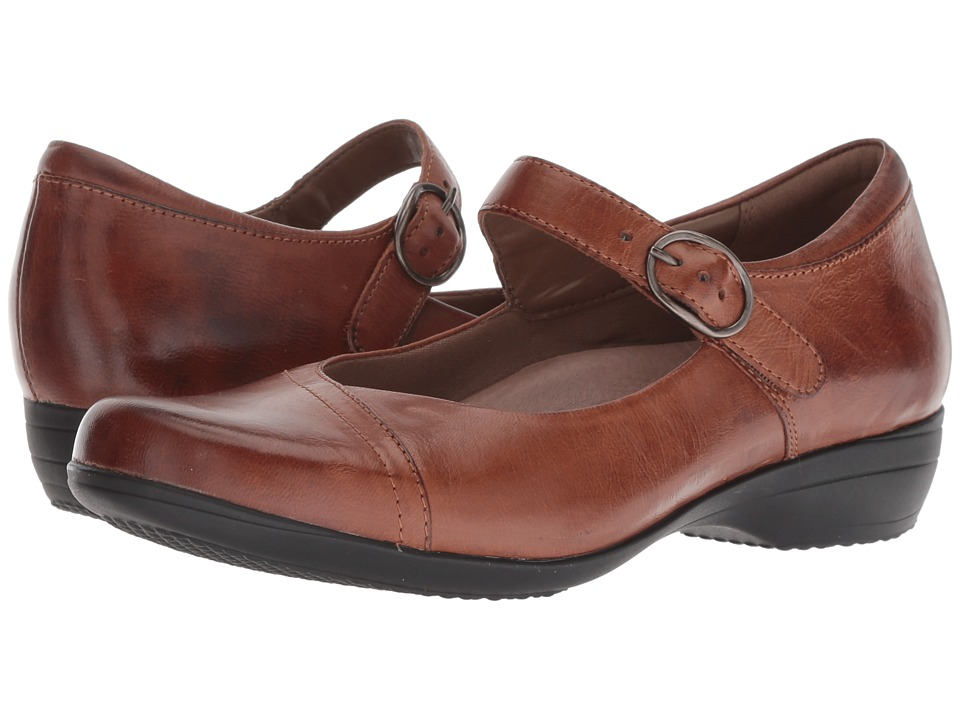 Dansko Fawna (Chestnut Burnished Calf) Women's Shoes
