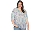 NIC+ZOE Plus Size Sea Wall Stripes Top