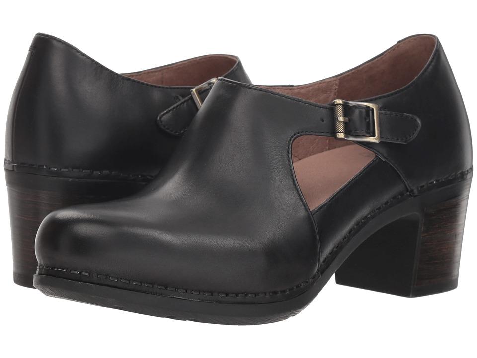 Dansko Hollie (Black Burnished Calf) Women's Shoes