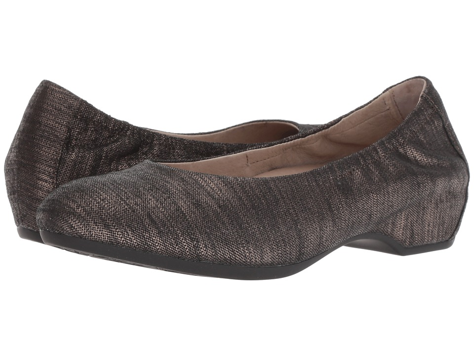 Dansko Lisanne (Pewter Textured Leather) Flats
