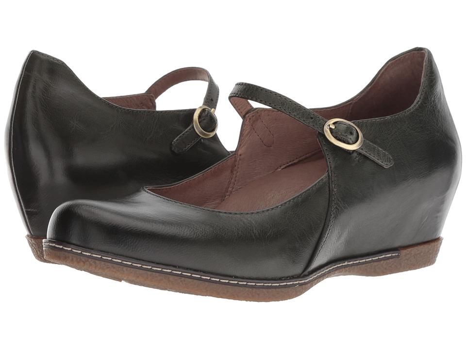 Dansko Loralie (Moss Burnished Calf) Women's Shoes