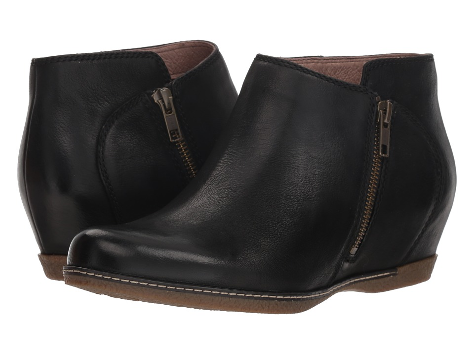 Dansko Leyla (Black Burnished Nubuck) Women's Shoes