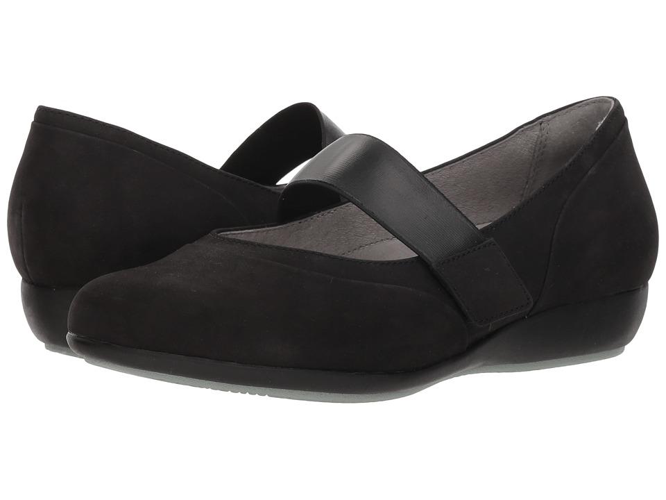 Dansko Kendra (Black Milled Nubuck) Women's Shoes