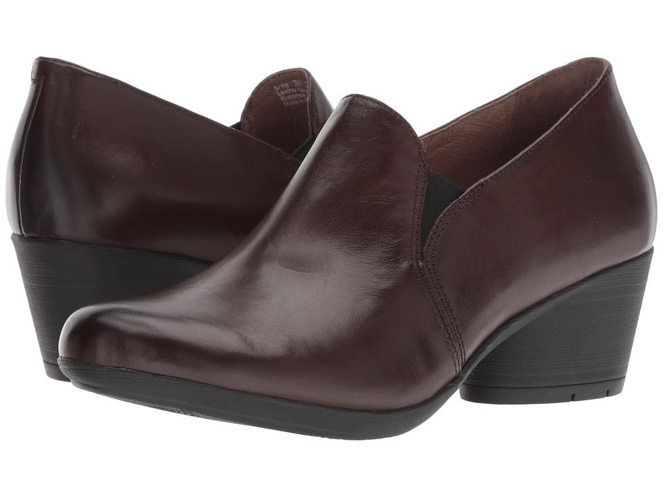 Dansko Robin (Chocolate Burnished Calf) Women's Shoes