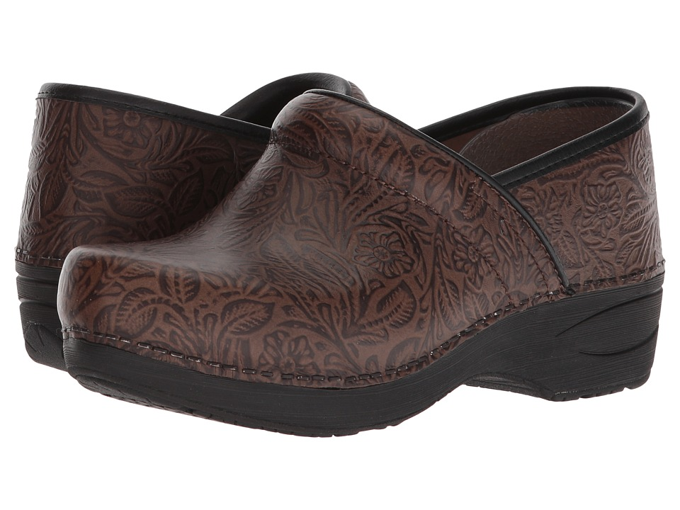 DanskoXP 20  (Brown Floral Tooled) Womens  Shoes
