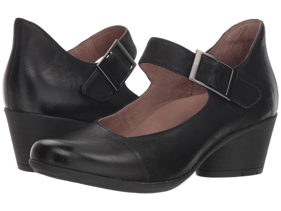 Dansko Roxanne (Black Burnished Nubuck) Women's Shoes