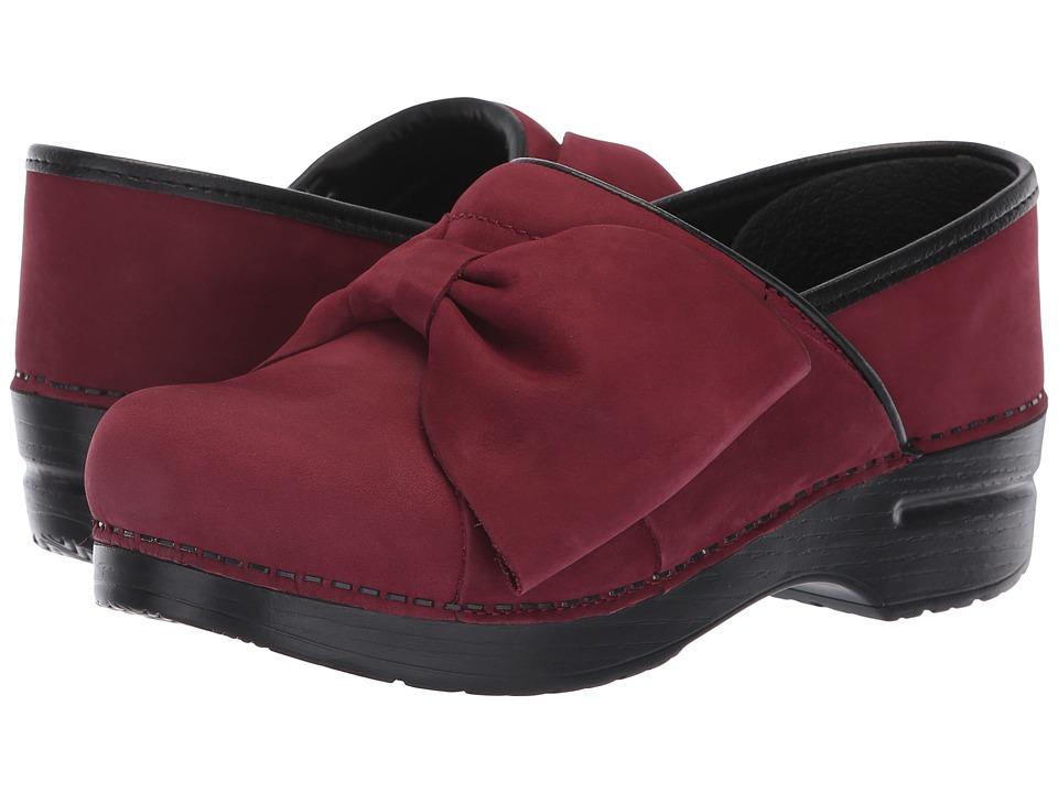 Dansko Pro Bow (Wine Milled Nubuck) Women's Shoes