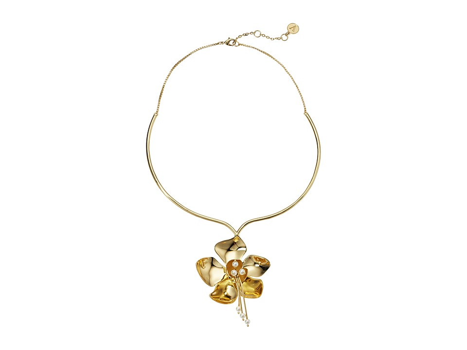 Vince Camuto - Statement Flower Collar Necklace (Gold) Necklace