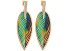 Vince Camuto Inlaid Leather Front Statement Earrings