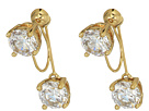 Vince Camuto Vince Camuto Stone Front/Back Clip Earrings