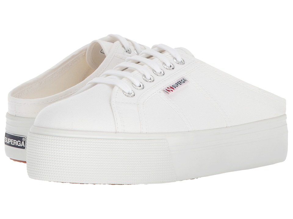 Superga - 2284 Vcotw Platform Sneaker Mule (White) Womens Shoes