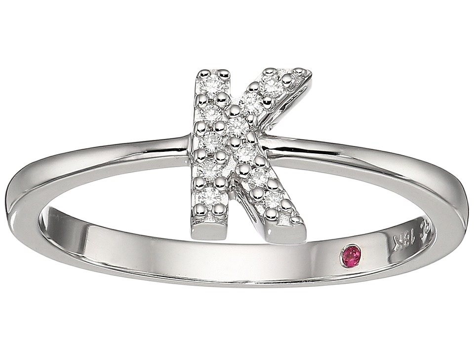 Roberto Coin Tiny Treasure Initial K Love Letter Ring (Wh...