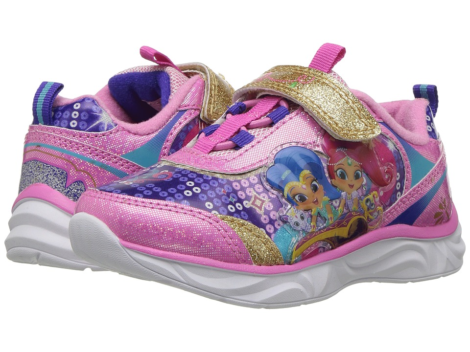 Josmo Kids Shimmer Shine Lighted Sneaker (Toddler/Little Kid) (Pink Multi) Girl's Shoes