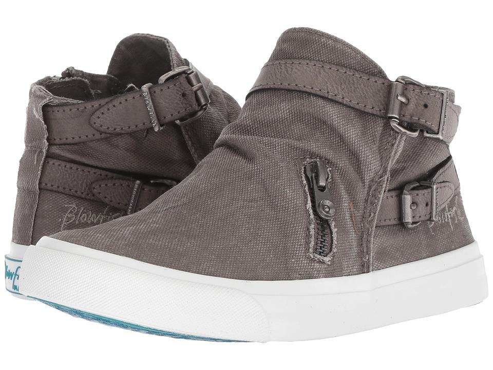 Blowfish Mondo (Stone Grey Smoked Canvas) Women's Pull-on Boots