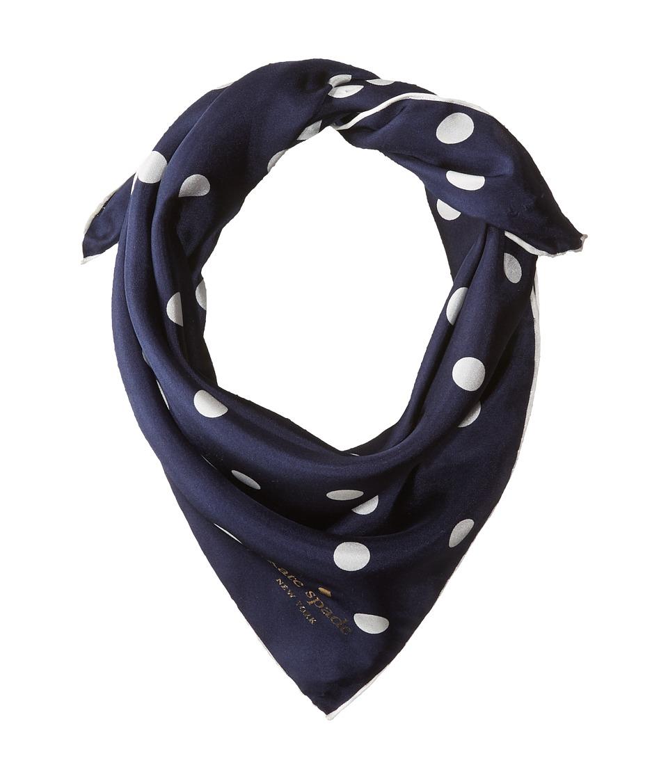 Kate Spade New York - Dancing Dot Bandana (Rich Navy/Cream) Scarves
