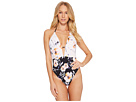 THE BIKINI LAB THE BIKINI LAB True Watercolors Plunge High Leg One-Piece