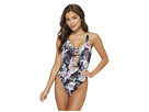 THE BIKINI LAB What's My Sage Again Plunge High Neck One-Piece