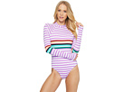 THE BIKINI LAB THE BIKINI LAB Stripeout Bodysuit One-Piece