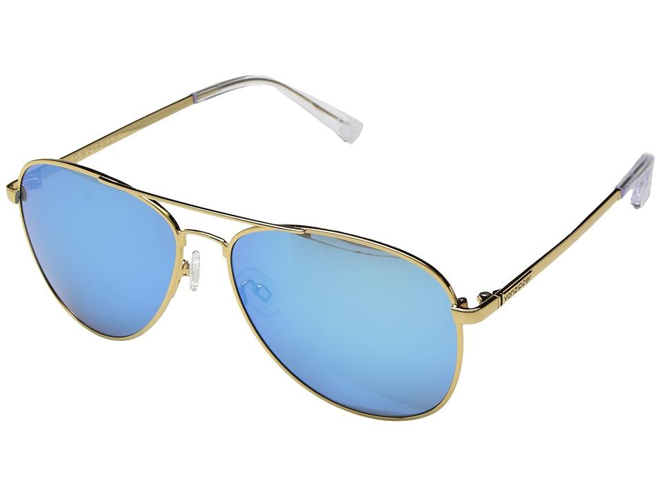 VonZipper Farva (Gold Gloss/Blue Chrome) Fashion Sunglasses