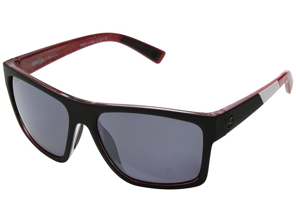 VonZipper Dipstick Polar (Mc Black/Red/Wild Silver Chrome Polar Plus) Sport Sunglasses